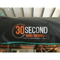 30 SECOND AWNING - BLACK BAG - PASSENGER