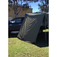 30 SECOND WING AWNING - SINGLE SOLID WALL