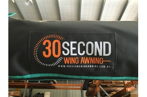 30 SECOND AWNING - GREY BAG - DRIVER,Driver Side - Olive Green Canvas and Grey Bag