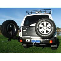 OUTBACK ACCESSORIES' DUAL WHEEL CARRIER MITSUBISHI PAJERO GLX & VR-X NS-NX