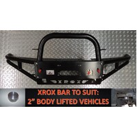XROX BULLBAR NISSAN NAVARA D40-PATH 05/2010on-50MM BODY LIFT