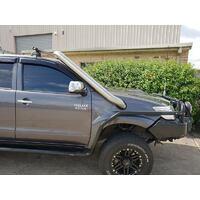 ORC M SPEC BRUSHED STAINLESS SNORKEL -  TOYOTA HILUX N70 03/2005-09/2015