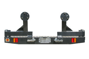 OUTBACK ACCESSORIES' DUAL WHEEL CARRIER LANDROVER DEFENDER WAGON & 90 SWB