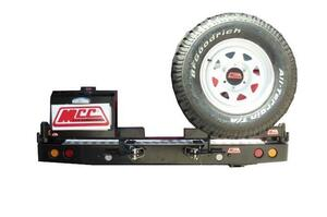 MCC WHEEL CARRIER AND DUAL JERRY CAN - TOYOTA LAND CRUISER 60 1980-1990