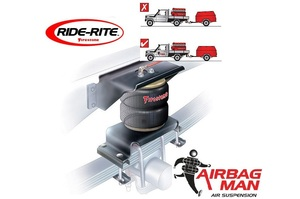 AIRBAG MAN RIDE-RITE KIT - NISSAN NAVARA D-40 4X4 ALL CABS 2006-2015 REAR LEAF