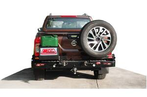 MCC WHEEL CARRIER & SINGLE JERRY CAN HOLDER - NISSAN NAVARA NP300 2015ON