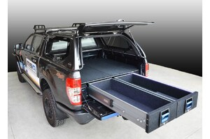 MSA 4X4 ACCESSORIES 1350 COMPLETE DOUBLE DRAWER SYSTEM, FORD RANGER / MAZDA BT50 2011 - CURRENT