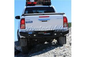 Drivetech 4x4 by Rival Alloy Rear Bar wi integrated 3.5T Tow - Toyota Hilux 2005-2019