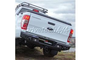 Drivetech 4x4 by Rival Alloy Rear Bar wi integrated 3.5T Tow Ford PX/PX2/PX3 Ranger