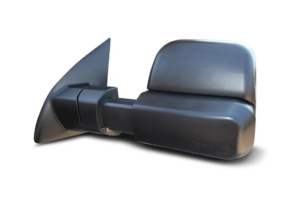 MSA Towing Mirrors Black - Heated - Radio - Electric - GPS to suit Volkswagen Amarok 2009 to current