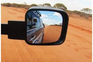 MSA Towing Mirrors Black - Electric to suit Toyota Landcruiser LC200 Series