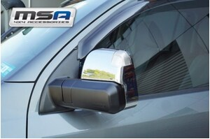 MSA Electric Towing Mirrors Chrome with Indicators, Heated & Blind Spot Monitoring to suit Ford Everest 2015 On