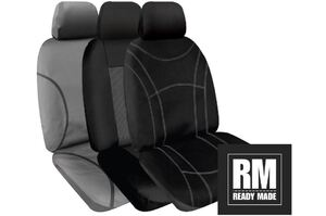 SPERLING FRONT ROW SEATCOVERS- MITSUBISHI TRION (MQ, MR) GLX, GLX+, GLX ADAS, GLAS BLACKLINE DUAL CAB 04/2015 - CURRENT