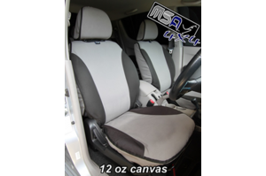 MSA SEAT COVERS front twin buckets pair + console cover / NISSAN PATROL GU Y61 ST WAGON (SER 4-8)